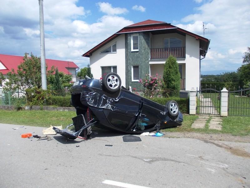 Dopravná nehoda Fiat Brava v obci Pozdišovce