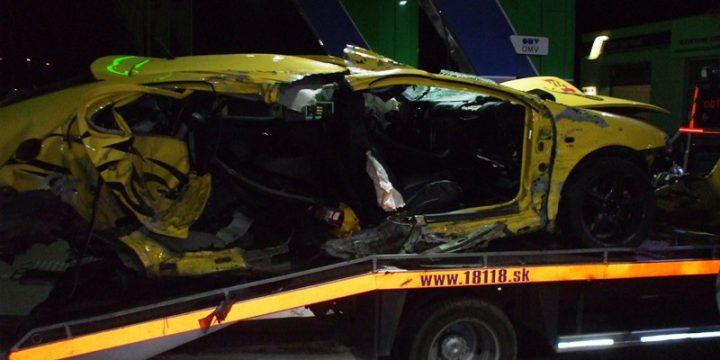Dopravná nehoda medzi obcou Horovce – Hriadky
