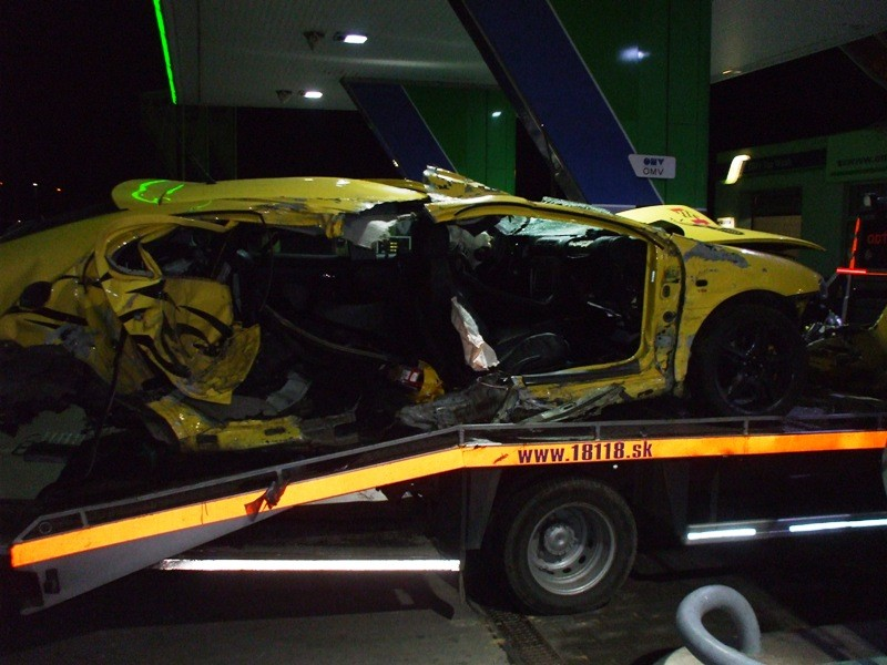 Dopravná nehoda medzi obcou Horovce - Hriadky