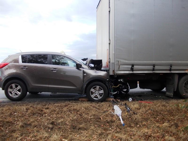 Dopravná nehoda KIA Sportage pred obcou Trhovište