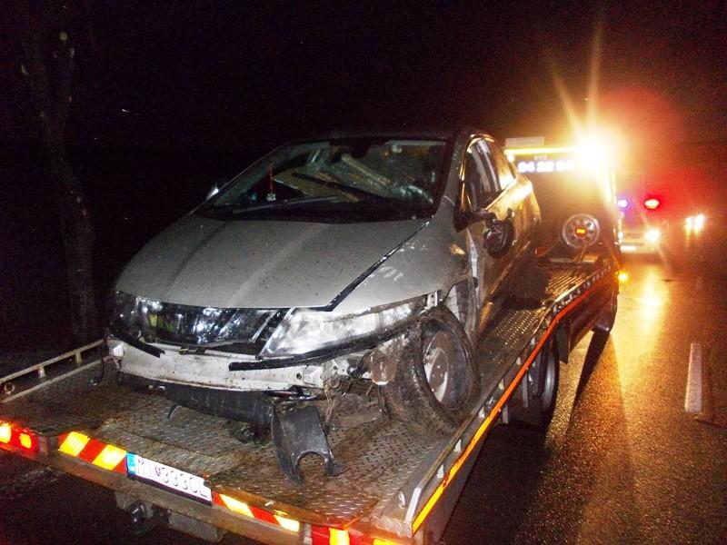 Dopravná nehoda vozidla Honda pred obcou Nižná Rybnica