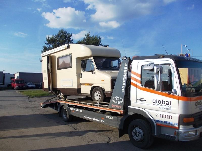 Porucha vozidla Fiat na Hraničnom priechode Vyšné Nemecké