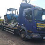 Prevoz traktora z obce Tibava do obce Bracovce