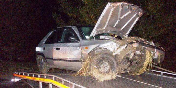 Dopravná nehoda vozila Škoda Felicia pred obcou Senne