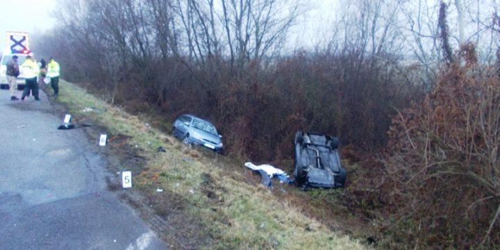 Dopravná nehoda – dvoch vozidiel medzi obcami Palín – Pavlovce n.Uhom