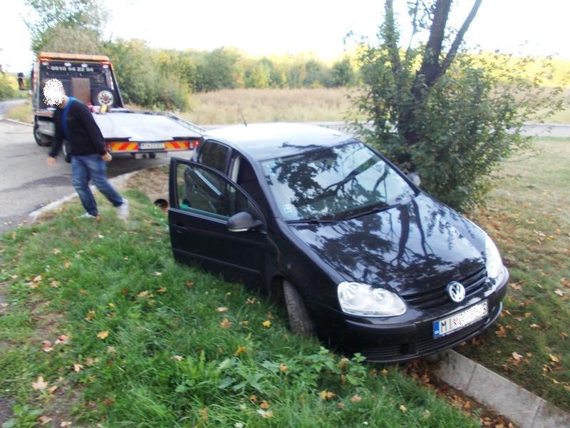 Dopravná nehoda vozidla VW Golf v Michalovciach