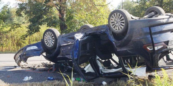 Dopravná nehoda vozidiel MB Sprinter a Ford Galaxy v Strážskom